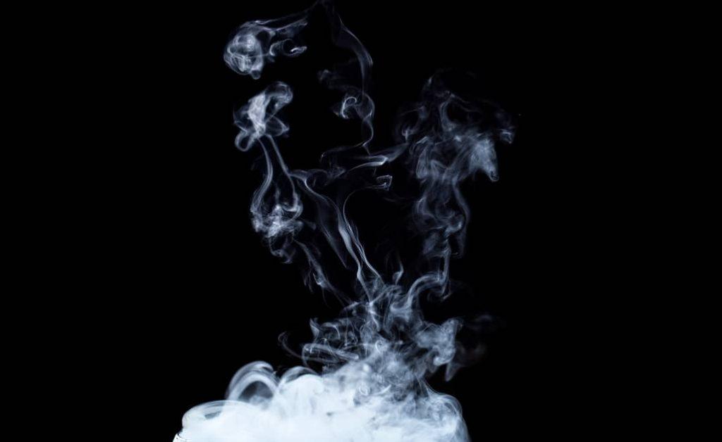 Kerosene fumes that can be easily inhaled when someone drinks kerosene and vomits