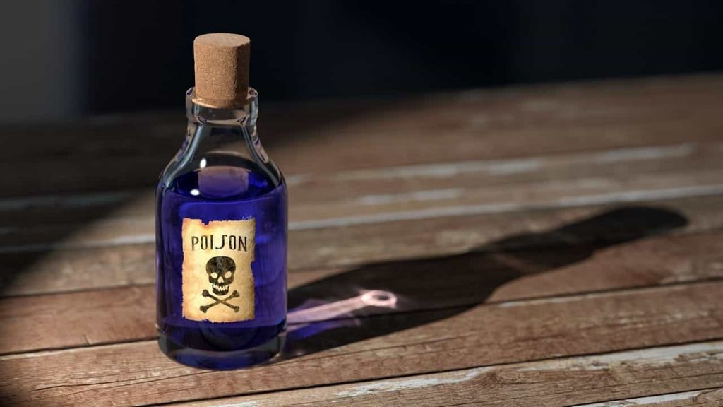 Bottle of poison: Sniper and other organophosphate compounds can be poisonous