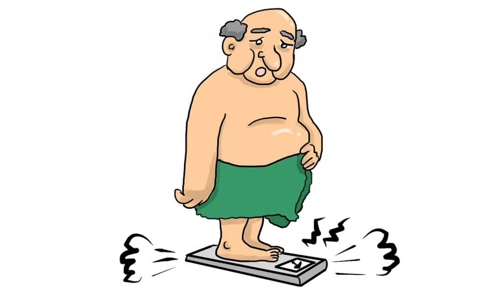 Overweight man; being overweight or obese is a huge risk factor for type 2 diabtetes